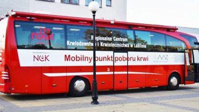 Photo of Krew oddasz w mobilnym punkcie RCKiK