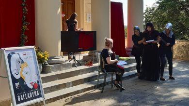 Photo of Balladyna Słowackiego na podwórzu Biblioteki Miejskiej