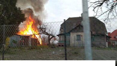 Photo of Pożar na ulicy Filtrowej w Puławach