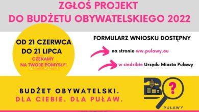 Photo of Budżet Obywatelski 2022 – czas start! [VIDEO]