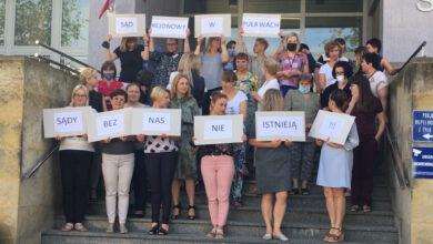 Photo of Pracownicy sądu protestowali [VIDEO]