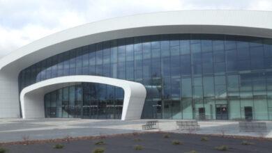 Photo of Przy hali widowiskowo-sportowej stanie telebim